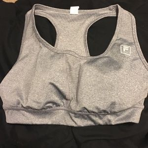 Gray Fila sports bra